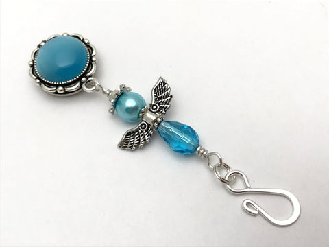 Blue Angel Portuguese Knitting Pin- Magnetic ID Badge Pin , Portugese Knitting Pin - Jill's Beaded Knit Bits, Jill's Beaded Knit Bits  - 1