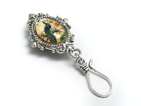 MAGNETIC Peacock Portuguese Knitting Pin