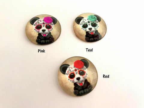 Magnetic Sugar Panda Knitting Pin for Portuguese Knitting- ID Badge Holder , Portugese Knitting Pin - Jill's Beaded Knit Bits, Jill's Beaded Knit Bits  - 9