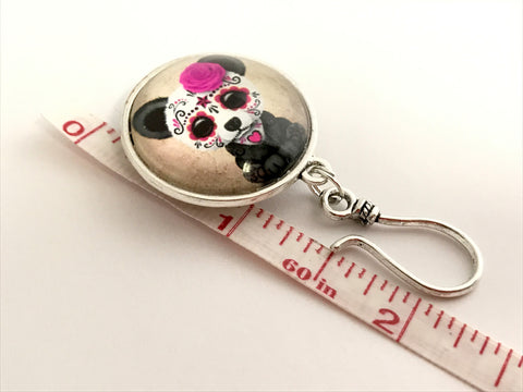 Magnetic Sugar Panda Knitting Pin for Portuguese Knitting- ID Badge Holder