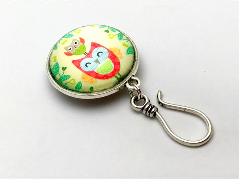 Mama & Baby Owl Knitting Pin for Portuguese Knitting -MAGNETIC