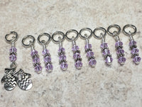 Knitted Mittens Beaded Stitch Marker Set , Stitch Markers - Jill's Beaded Knit Bits, Jill's Beaded Knit Bits  - 3