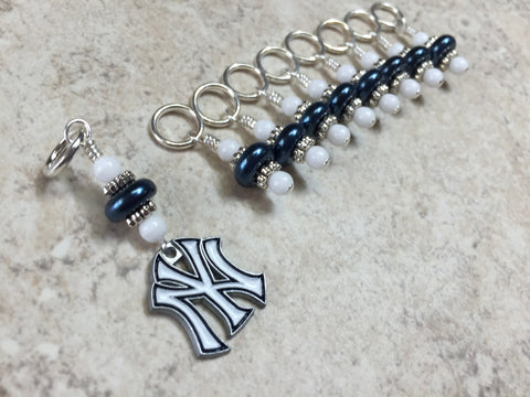 New York Yankees Stitch Marker Set , Stitch Markers - Jill's Beaded Knit Bits, Jill's Beaded Knit Bits  - 2