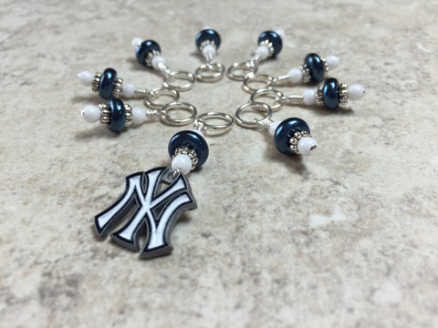 New York Yankees Stitch Marker Set , Stitch Markers - Jill's Beaded Knit Bits, Jill's Beaded Knit Bits  - 4