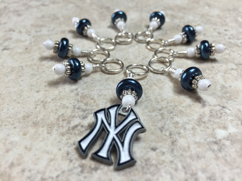 New York Yankees Stitch Marker Set , Stitch Markers - Jill's Beaded Knit Bits, Jill's Beaded Knit Bits  - 5