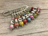 Numbered Stitch Markers on a Kilt Pin Holder | Snag Free Set of 10