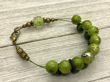 Avocado Green Abacus Counting Bracelet | Row Counter