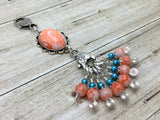 Orange Swirl Knitting Bag Lanyard & Stitch Markers , Stitch Markers - Jill's Beaded Knit Bits, Jill's Beaded Knit Bits  - 2
