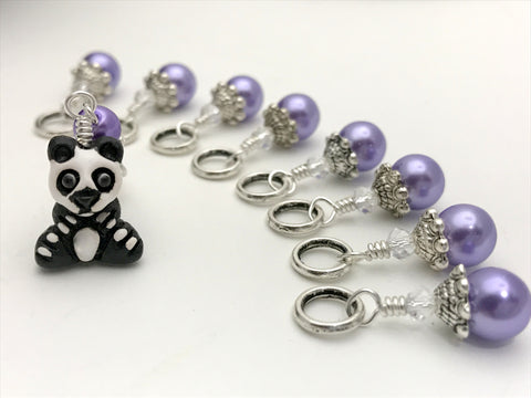 Panda Bear Stitch Marker Set for Knitters- Zoo Animal