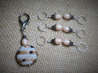 Peaches & Cream Stitch Marker Set , Stitch Markers - Jill's Beaded Knit Bits, Jill's Beaded Knit Bits  - 4