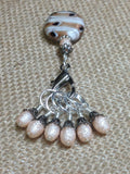 Peaches & Cream Stitch Marker Set , Stitch Markers - Jill's Beaded Knit Bits, Jill's Beaded Knit Bits  - 2
