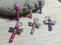 Pearl Dragonfly Stitch Markers , Stitch Markers - Jill's Beaded Knit Bits, Jill's Beaded Knit Bits  - 3
