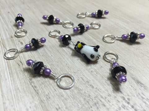 Penguin Stitch Marker Set- Snag Free Gift for Knitters , Stitch Markers - Jill's Beaded Knit Bits, Jill's Beaded Knit Bits  - 6