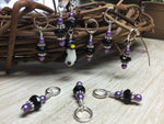 Penguin Stitch Marker Set- Snag Free Gift for Knitters , Stitch Markers - Jill's Beaded Knit Bits, Jill's Beaded Knit Bits  - 9