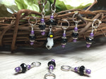 Penguin Stitch Marker Set- Snag Free Gift for Knitters , Stitch Markers - Jill's Beaded Knit Bits, Jill's Beaded Knit Bits  - 7