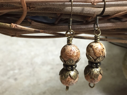Picture Jasper Stone Earrings , jewelry - Jill's Beaded Knit Bits, Jill's Beaded Knit Bits  - 2