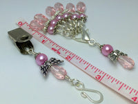 Pink Angels Portuguese Knit Pin & Stitch Marker Gift Set , Portugese Knitting Pin - Jill's Beaded Knit Bits, Jill's Beaded Knit Bits  - 4