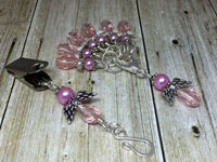 Pink Angels Portuguese Knit Pin & Stitch Marker Gift Set , Portugese Knitting Pin - Jill's Beaded Knit Bits, Jill's Beaded Knit Bits  - 3