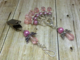 Pink Angels Portuguese Knit Pin & Stitch Marker Gift Set , Portugese Knitting Pin - Jill's Beaded Knit Bits, Jill's Beaded Knit Bits  - 7