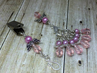 Pink Angels Portuguese Knit Pin & Stitch Marker Gift Set , Portugese Knitting Pin - Jill's Beaded Knit Bits, Jill's Beaded Knit Bits  - 6