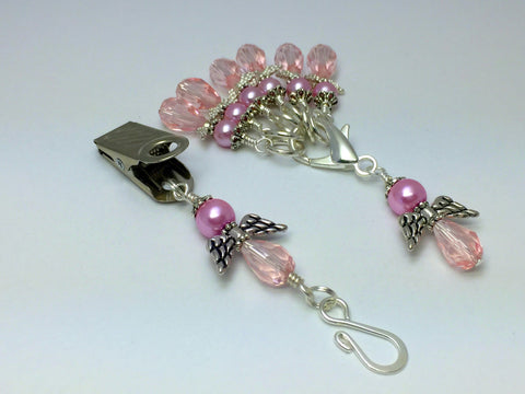Pink Angels Portuguese Knit Pin & Stitch Marker Gift Set , Portugese Knitting Pin - Jill's Beaded Knit Bits, Jill's Beaded Knit Bits  - 1