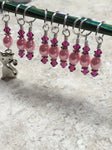 Pink Cat Stitch Marker Set , Stitch Markers - Jill's Beaded Knit Bits, Jill's Beaded Knit Bits  - 4
