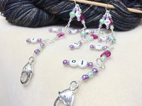 Chain Style Row Counter- Pink Hearts , Stitch Markers - Jill's Beaded Knit Bits, Jill's Beaded Knit Bits  - 2