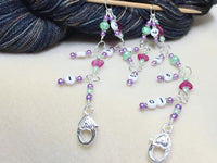 Chain Style Row Counter- Pink Hearts , Stitch Markers - Jill's Beaded Knit Bits, Jill's Beaded Knit Bits  - 4