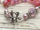Honey Bee Abacus Row Counting Bracelet- Pink Bracelet