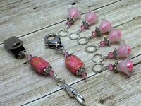 Pink Portuguese Knitting Gift Set , Portugese Knitting Pin - Jill's Beaded Knit Bits, Jill's Beaded Knit Bits  - 6