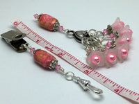 Pink Portuguese Knitting Gift Set , Portugese Knitting Pin - Jill's Beaded Knit Bits, Jill's Beaded Knit Bits  - 2