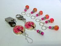 Pink Tree Portuguese Knitting Pin & Stitch Marker Gift Set , Portugese Knitting Pin - Jill's Beaded Knit Bits, Jill's Beaded Knit Bits  - 6
