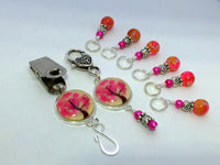 Pink Tree Portuguese Knitting Pin & Stitch Marker Gift Set , Portugese Knitting Pin - Jill's Beaded Knit Bits, Jill's Beaded Knit Bits  - 10