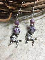 Beaded Poodle Earrings , jewelry - Jill's Beaded Knit Bits, Jill's Beaded Knit Bits  - 2