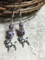 Beaded Poodle Earrings , jewelry - Jill's Beaded Knit Bits, Jill's Beaded Knit Bits  - 3