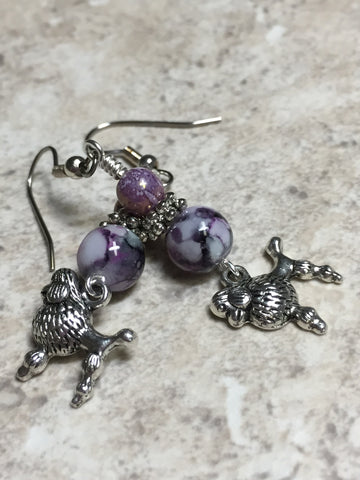Beaded Poodle Earrings , jewelry - Jill's Beaded Knit Bits, Jill's Beaded Knit Bits  - 4