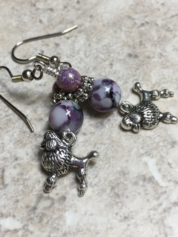 Beaded Poodle Earrings , jewelry - Jill's Beaded Knit Bits, Jill's Beaded Knit Bits  - 5