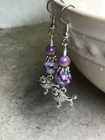 Beaded Poodle Earrings , jewelry - Jill's Beaded Knit Bits, Jill's Beaded Knit Bits  - 6
