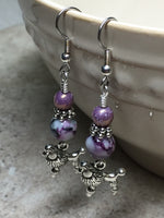 Beaded Poodle Earrings , jewelry - Jill's Beaded Knit Bits, Jill's Beaded Knit Bits  - 8