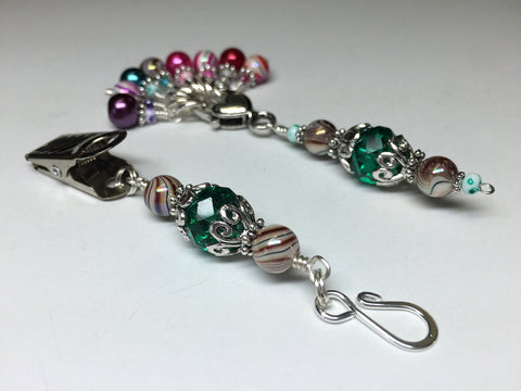 Portuguese Knitting Pin and Stitch Marker Gift Set- Mixed Colors , Portugese Knitting Pin - Jill's Beaded Knit Bits, Jill's Beaded Knit Bits  - 2
