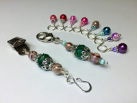 Portuguese Knitting Pin and Stitch Marker Gift Set- Mixed Colors , Portugese Knitting Pin - Jill's Beaded Knit Bits, Jill's Beaded Knit Bits  - 7