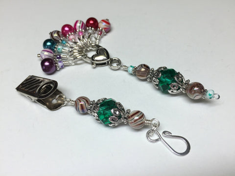 Portuguese Knitting Pin and Stitch Marker Gift Set- Mixed Colors , Portugese Knitting Pin - Jill's Beaded Knit Bits, Jill's Beaded Knit Bits  - 5