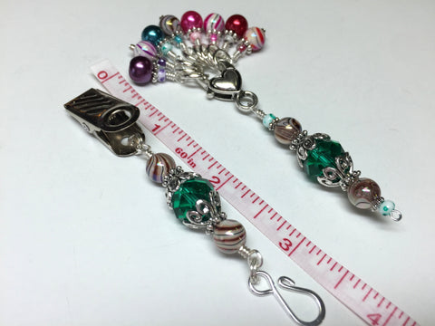 Portuguese Knitting Pin and Stitch Marker Gift Set- Mixed Colors , Portugese Knitting Pin - Jill's Beaded Knit Bits, Jill's Beaded Knit Bits  - 4