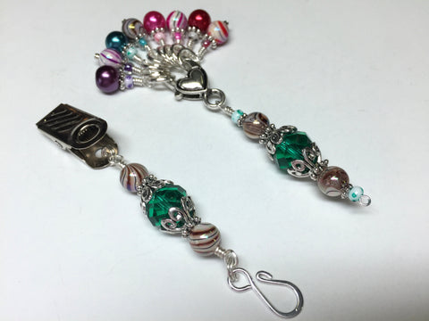Portuguese Knitting Pin and Stitch Marker Gift Set- Mixed Colors , Portugese Knitting Pin - Jill's Beaded Knit Bits, Jill's Beaded Knit Bits  - 3