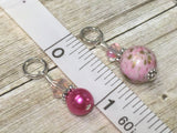 Pretty Pink Splash Stitch Marker Set , Stitch Markers - Jill's Beaded Knit Bits, Jill's Beaded Knit Bits  - 5