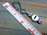 Purple Speckle Number Stitch Markers for Knitting & Crochet