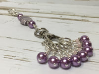 KnittingBag Stitch Marker Lanyard- PurpleStripes , Stitch Markers - Jill's Beaded Knit Bits, Jill's Beaded Knit Bits  - 5