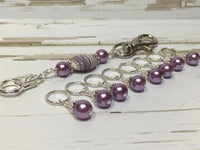 KnittingBag Stitch Marker Lanyard- PurpleStripes , Stitch Markers - Jill's Beaded Knit Bits, Jill's Beaded Knit Bits  - 4