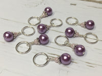 KnittingBag Stitch Marker Lanyard- PurpleStripes , Stitch Markers - Jill's Beaded Knit Bits, Jill's Beaded Knit Bits  - 7