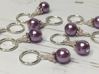 KnittingBag Stitch Marker Lanyard- PurpleStripes , Stitch Markers - Jill's Beaded Knit Bits, Jill's Beaded Knit Bits  - 8